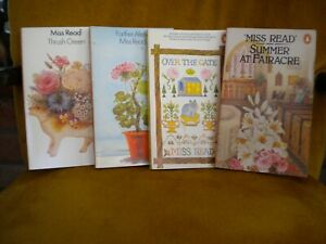Miss Read paperbacks set of 4 books of village life vg cond.