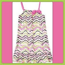 NWT gIrls 2T Gymboree Zebra CHEVRON HEARTS GYMMIES sleepwear Night GOWN PJs Pink