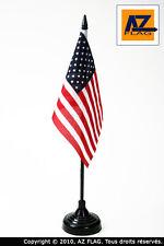 DRAPEAU DE TABLE ETATS-UNIS 15x10cm - PETIT DRAPEAUX DE BUREAU AMÉRICAIN - USA 1