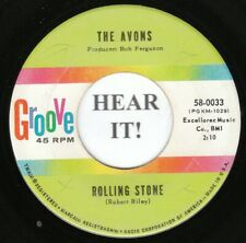 The Avons GIRL GROUP 45 (Groove 0033) Rolling Stone /Words Written On Water VG++