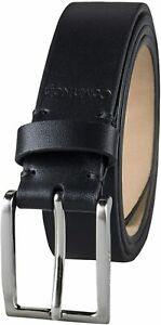 Calvin Klein Men's 30mm Wide Leather CE Dress Belt