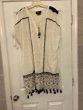 Anthropologie Hermant & Nandita Aditya Embroidered tunic dress Ethnic StyleSz XL
