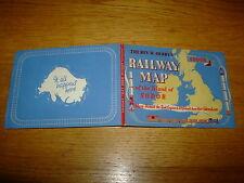 REV W AWDRY-RAILWAY MAP OF ISLAND OF SODOR-1ST-1958-NF-AMAZING CONDITION-V RARE