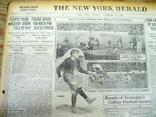 1920 display newspaper PRINCETON REMAINS UNDEFEATED College football BEATS YALE