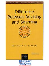 Difference Between Advising and Shaming by Ibn Rajab Al-Hanbali Islamic Book