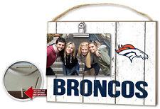 Denver Broncos Clip It Weathered Logo Photo Frame [NEW] NFL Picture Plaque
