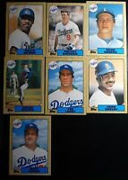1987 Topps Traded Los Angeles Dodgers Team Set of 7 Baseball Cards