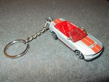 2007 2008 SHELBY MUSTANG GT500 CONVERTIBLE DIECAST MODEL CAR KEYCHAIN SILVER RED