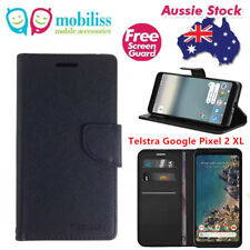 Mooncase Stand PU Leather TPU In Black Wallet Case For Telstra Google Pixel 2 XL