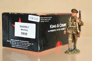KING & COUNTRY FW145 WWI BRITISH TOMMY SOLDIER MARCHING MINT BOXED nv