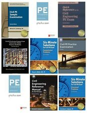 Civil Engineering PE Exam Reference Materials with Live Session Review Videos