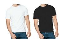 3 & 5 Pack Mens T-Shirt 100% Cotton Plain Tee Shirts T Shirt Round Neck