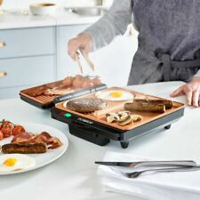 Tower Cerasure Copper Non-Stick Grill & Griddle Full English Breakfast