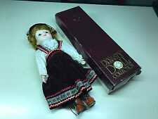 Old Vtg DYNASTY DOLL COLLECTION Little Girl In Cute Dress and Brown Boots W/Box