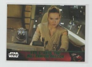Star Wars The Force Awakens Series 1 Trading Card Green Parallel #91