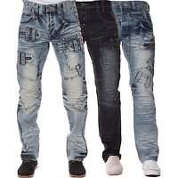 New ETO Mens Straight Leg Regular Fit Jeans Branded Design Blue All Waist Sizes