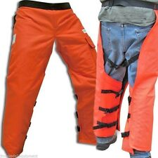 "Chain Saw Safety Wrap Chaps, Orange, 35"" Leg, Osha Approved, Forester Brand"