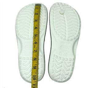 Crocs Mens Crocband Lightweight Water Friendly casual comfy sandals White size 8