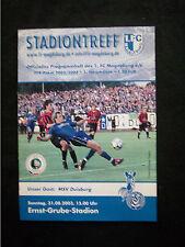 Orig.PRG   DFB Pokal  2003/04   1.FC MAGDEBURG - MSV DUISBURG  / 1.Runde  !!
