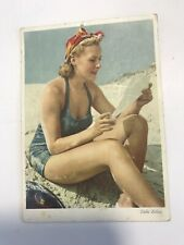 Foto pin-up postcard girl nude with postcard vintage Dr Paul Wolff Vintage