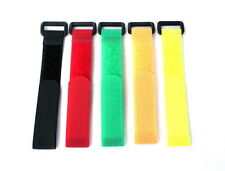 Kit Velcro Blocca Cavi e Batterie N. 5 Pezzi Colorati