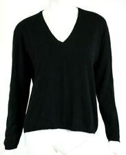 PRADA Black Cashmere Knit V-Neck Pullover Sweater 44