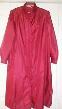 GUC Red FLEET STREET Trench Windbreaker Long Rain Coat Women's Plus Size 18
