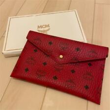 MCM Novelty Pouch Porch Clutch Bag Red