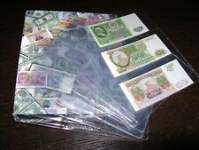 50 Pcs Album Pages 3 Pockets Money Banknote Currency Holder Storage Collection
