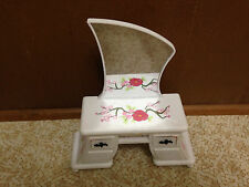 Barbie Doll Cherry Blossom Floral White Mirror Vanity Bedroom Furniture
