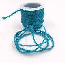 10M DIY Wrap Gift blue Jute Burlap Ribbon Twine Rope Cord String width 2MM
