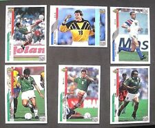 UPPER DECK COMPANY.    .WORLD CUP USA 94....X 6  CARDS..1994...VG