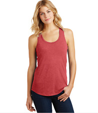 New  Tri Blend Scoop  Neck Racer Back Tank Top 3X  Heth Red  MSRP $20.00