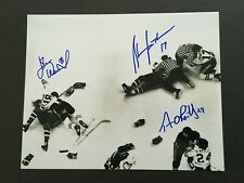 TERRY O'REILLY, JOHN WENSINK,STAN JONATHAN 8X10 AUTOGRAPHED FIGHT PHOTO C.O.A.