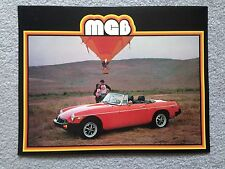 MG B 1979 Dealer Sales Brochure - Original - Mint Condition