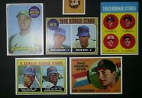 60's Topps 5 Rookie Card Lot 1968 Nolan Ryan 1963 Pete Rose 1969 Reggie Jackson