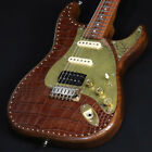 Paoletti Guitars: Stratospheric Leather Top HSS Brown Leather for sale