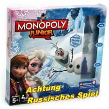 Hasbro B2247 Monopoly Junior Die Eiskönigin Kinderspiel Brettspiel RUSSISCH