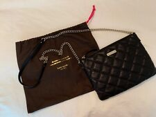 Kate Spade Black Quilted Leather Crossbody Purse Handbag with Dust Bag/Cover