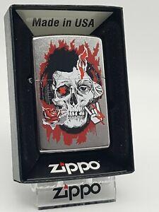 Original Zippo - Zone Culture Skull Design - 2019 -  Neu 60005122