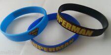3x Silicone Ladies,Men, Unisex Super Man Band Bracelet- Bangle-Wristband