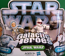 "Galactic Heroes "" PADME AMIDALA & SENATE SECURITY CLONE TROOPER "" NOC"