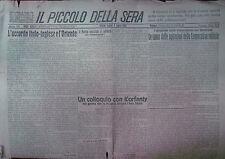 """"""" IL PICCOLO DELLA SERA"""" N°813  Lunedì 3 LUG.1922  ( IN  ORIGINALE !)"""