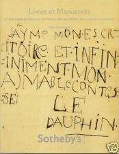 SOTHEBY'S Manuscript Bourbons Saint-Exupery Jacob Kupka