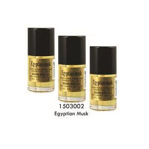 THREE 0.5oz Jehahn Body Oil-Egyptian Musk Pure & Essential