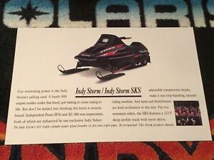 🏁 95 POLARIS INDY STORM 800 Snowmobile Poster  vintage sled 800 Triple