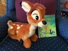 "Bambi Disneyland Stuffed Animal Plush Deer Disney World 13"" Fawn Toy Folded Legs"