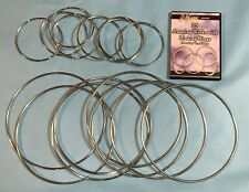 """Linking Rings 10"""" and 5"""" set of 2 magician clown stage Trick free Dvd"""