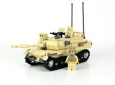 Tan M1 Abrams Main Battle Tank custom set made with REAL LEGO® bricks