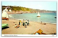 Vintage Picture Postcard Sailing at Gorran Haven Cornwall